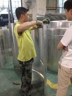 包柱铝板做货实拍
