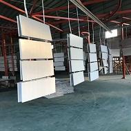 白色定制铝单板吊顶出货