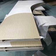 弧形铝单板做热转印木纹